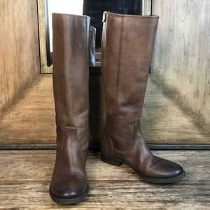 Arturo Chiang Tall Brown Zip Boots
